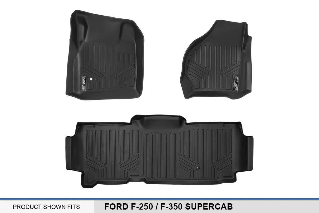 F-350 Super Duty SuperCab MAXLINER A0176//B0297 SMARTLINER Floor Mats 2 Row Liner Set Black for 1999-2007 Ford F-250
