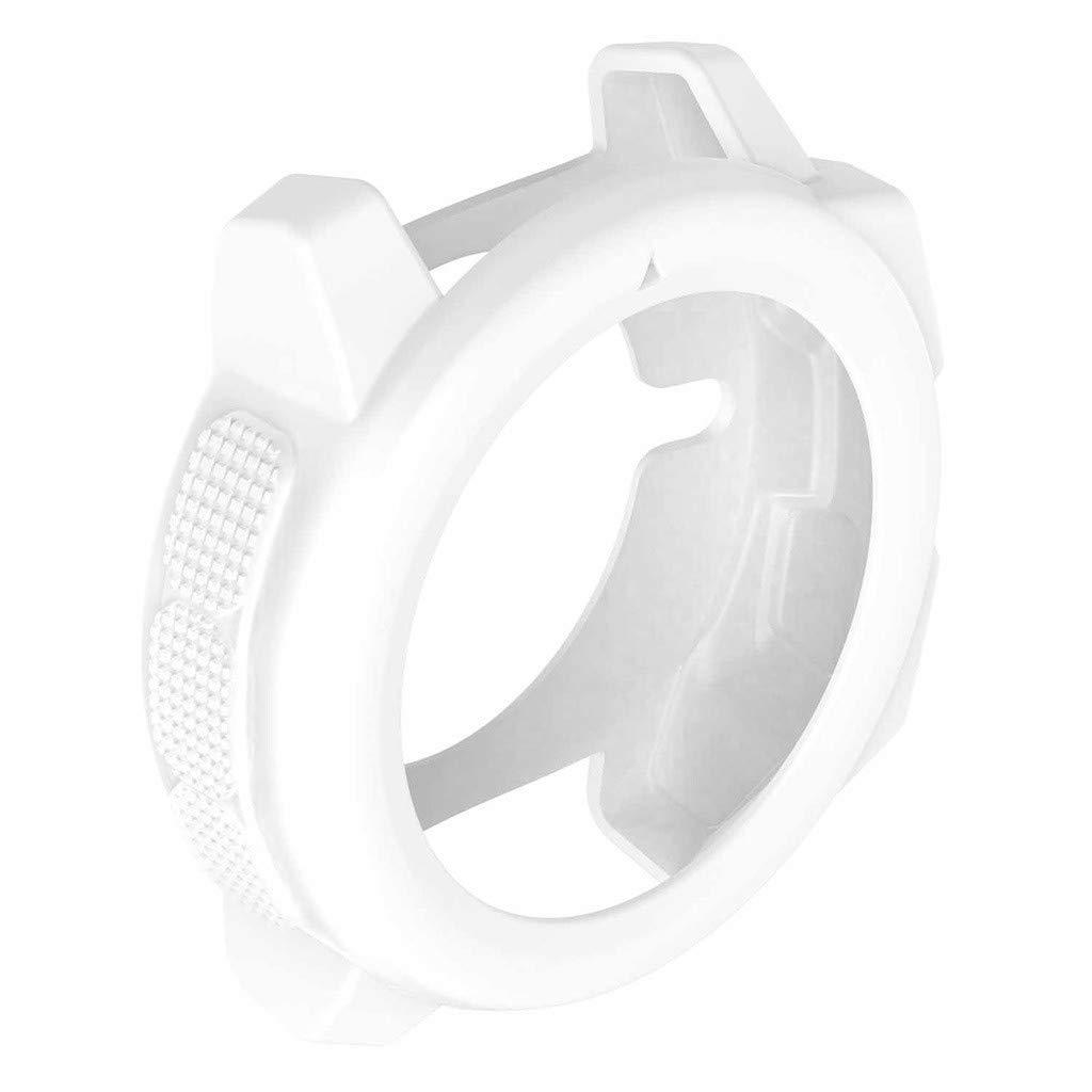 ZTY66 Soft Ultra-Slim TPU Protection Silicone Full for Garmin Instinct Case Cover (White)