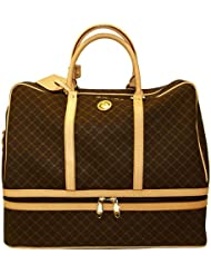 Signature Brown Duffel Dome Traveler by Rioni Designer Handbags & Luggage