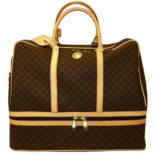 f5ca672c4b44 Signature Brown Duffel Dome Traveler by Rioni Designer Handbags   Luggage