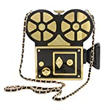 QZUnique Women's Acrylic Vintage Style Camera Shaped Evening Bag Purse Clutch Banquet Handbag