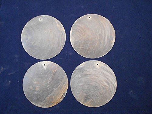50 Capiz Shells White Round 2