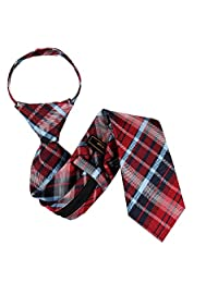 B-ZIP-12006 - Boys Designer Pattern Zipper Necktie