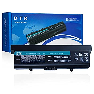 Dtk High Capacity Laptop Battery For DELL Inspiron 1525 1526 1545 1546 VOSTRO 500 PP29L PP41L; Fits GW240 X284G RN873 451-10534 M911G GP952 [ 9-cell 11.1V 7800MAH] Notebook battery by DTK