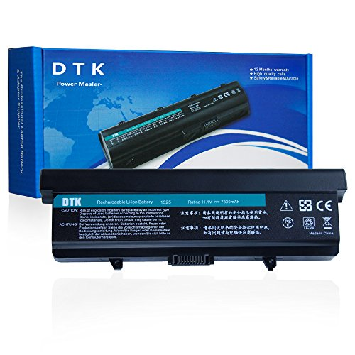 DTK 9 Cells 11.1V 7800MAH Laptop Battery Replacement for DELL Inspiron 1525 1526 1545 1546 VOSTRO 500 (P/N GW240 X284G RN873 451-10534 M911G GP952 0F965N G555N) (Best Battery For Dell Inspiron 1545)