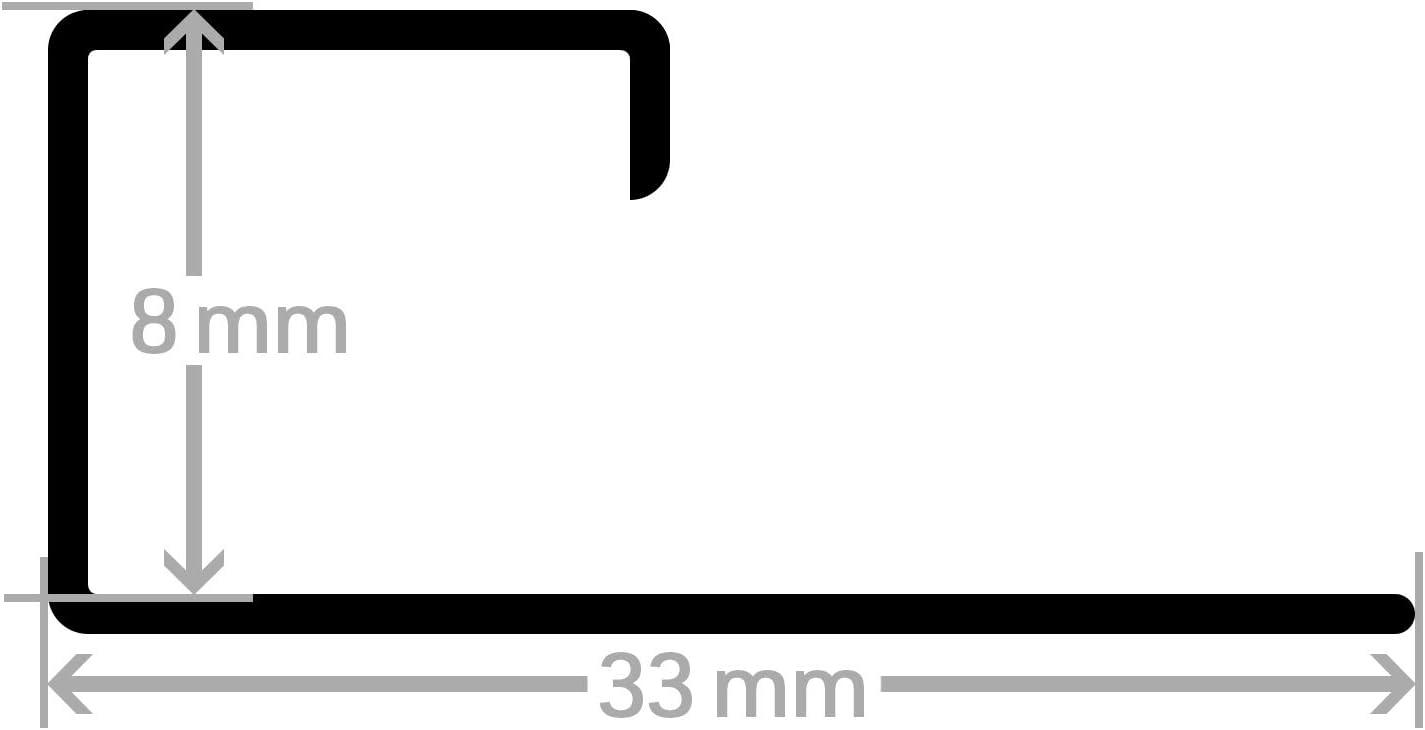 HORI/® Fliesenprofil I Quadroprofil aus Edelstahl St/ück L/änge /á 2,50 m I H/öhe 10 mm I gl/änzend