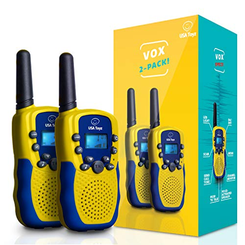 USA Toyz Walkie Talkies for Kids - Vox Box Voice Activated Walkie Talkies for Boys or Girls, Rechargeable Long Range Walkie Talkie Set for Toddlers or Children