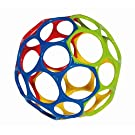 Rhino Toys Oball Original, Yellow/Blue/Red/Green