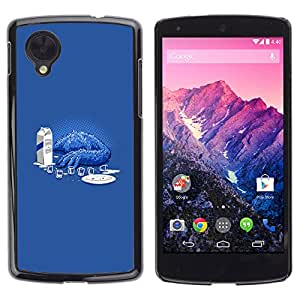 Stuss Case / Funda Carcasa protectora - Sad Cookie Monster - Funny - LG Nexus 5 D820 D821