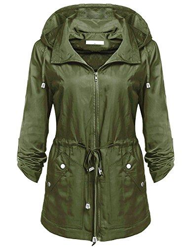 Green Womens Raincoat - 8