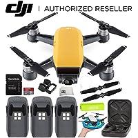 DJI Spark Portable Mini Drone Quadcopter Ultimate Palm Landing Pad Bundle (Sunrise Yellow)
