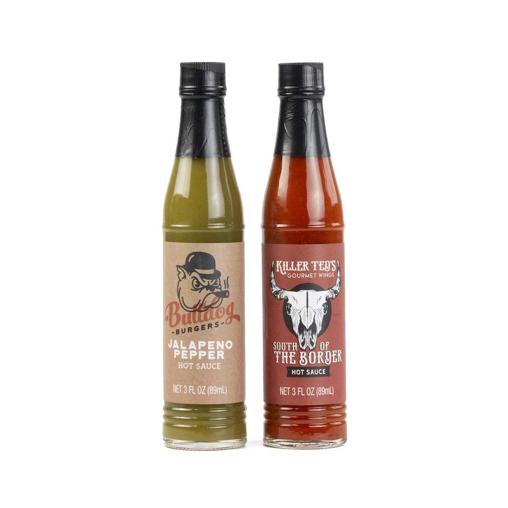 Food Truck Foodie Finds Hot Sauce Sampler Gift Set   8 Delicious Hot Sauce Samplers Including Jalapeño Pepper, Garlic Pepper, Milk Jabanero, Green Jalapeño, and More