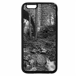 iPhone 6S Case, iPhone 6 Case (Black & White) - Waterfall Bridge