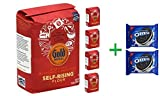 Gold Medal Flour Self-Rising - 5 Lb (5 PACK)+ OREO Cookies Sandwich Chocolate - 14.3 Oz (2 PACK)