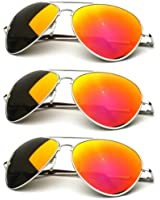 zeroUV - Premium Full Mirrored Aviator Sunglasses w/ Flash Mirror Lens