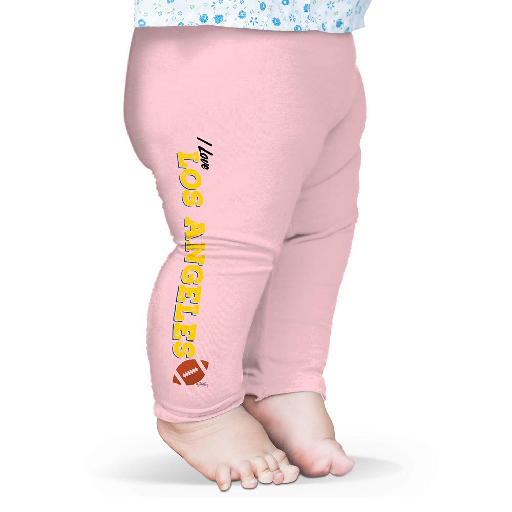 Twisted Envy Baby Pants I Love Los Angeles LA American Football Baby and Toddler Girls Leggings