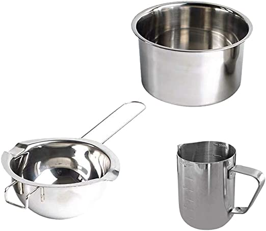 1 Set Stainless Steel Double Boiler Wax Melting Pot DIY Wedding Party Candle