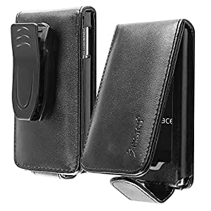 Insten Black Leather Flip Case for Microsoft ZUNE HD 16GB/32GB