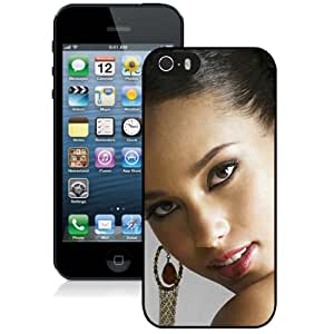Beautiful Designed Cover Case With Alicia Keys Teeth Earrings Shoulder Haircut For iPhone 5S Phone Case