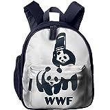 WWF Panda Bear Wrestling Toddler Shoulder Preschool Daypack With Pocket