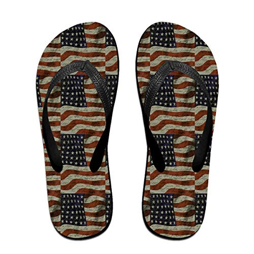 Unisex American Flag Summer Flip Flops Beach Slippers Jandal by WEIPING LF