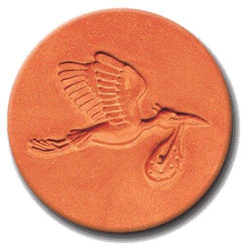 RYCRAFT 2 inch Round Cookie Stamp with Handle & Recipe Booklet-MR. STORK