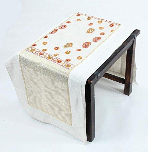 Alfombrilla de seda para camino de mesa, diseño indio clásico ...