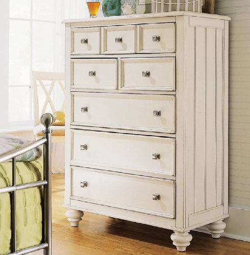 American Drew Camden 5 Drawer Chest in Buttermilk Finish - American Drew Drawer Dresser