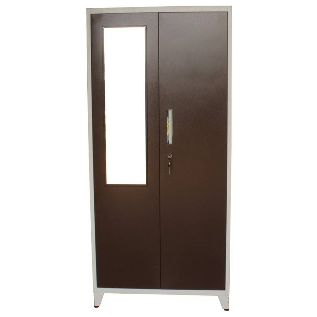 Woodness Tiffany 2-Door Wardrobe (Matte Finish, Brown)