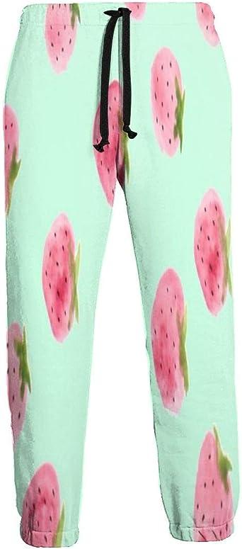 Pantalones de Chándal con Estampado de Fresas en Verde