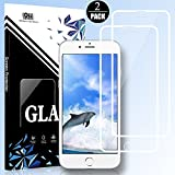 EESHELL iPhone 8/7/6S/6 Screen Protector, [2 Pack] 9H Hardness Full Coverage Tempered Glass, Shatter-Proof, HD Clarity, 3D Touch, Anti-Scratch, Anti-Bubble Film for iPhone 8/7/6S/6-White