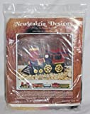 Vintage 1976 Newstalgia Designs '' Locomotive '' Plastic Canvas Kit #503 - by Linda Palmer