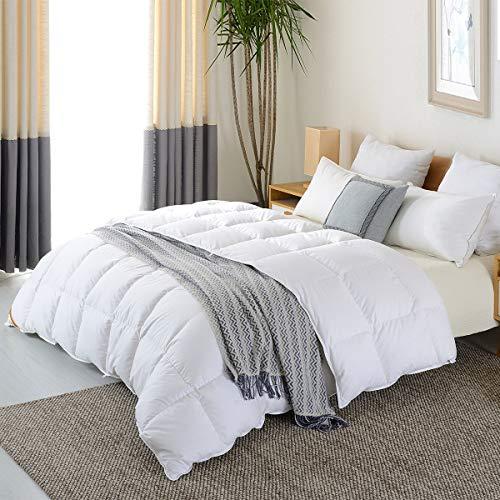 (NP Goose Down Alternative Comforter (Queen 90 x 90 Inch),Ultra Soft Brushed Microfiber, Quilt with Corner Tab for All Season Hypoallergenic Plush Mircofiber Comforter Duvet Insert)