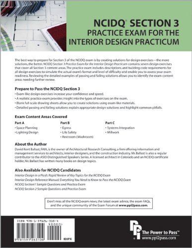 NCIDQ Section 3 Practice Exam For The Interior Design Practicum David Kent Ballast 0352020000585 Amazon Books