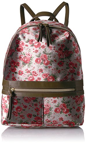 Floral Velvet Jeans (T-Shirt & Jeans Floral Velvet Back Pack, Grey)
