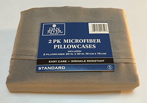 Dan River 2-Pack Microfiber Pillowcase (Standard, (Dan River Soft Pillow)