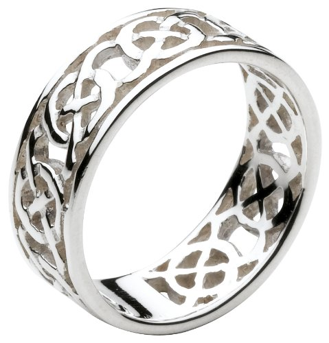 Heritage Women's Sterling Silver Celtic Open Knotwork Edged Ring