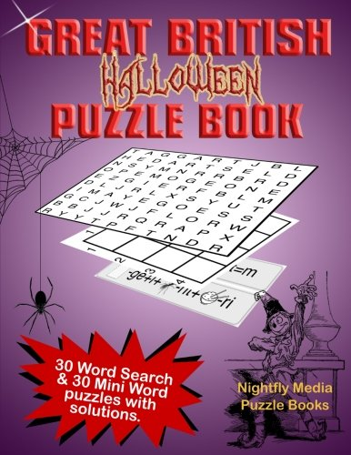 Great British Halloween Puzzle Book: 30 Word Search