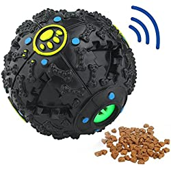 MagicCindy Smarter Interactive IQ Treat Ball Dog Toys Ball, 4.7 Inch, Black