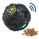 MagicCindy Smarter Interactive IQ Treat Ball Dog Toys Ball, 4.7 Inch, Black