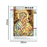 Shybuy 5D DIY Diamond Painting, Full Drill Christianity Religion Embroidery Rhinestone Cross Stitch Painting by Number Kits (D, 20cm25cm)