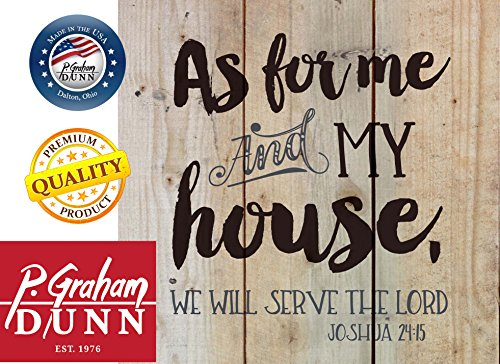 As for Me & My House Joshua 24:15 Rustic 10 x 10 Wood Pallet Design Wall Art Sign Plaque