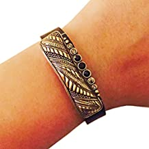 Charm to Accessorize the Fitbit Flex and Other Activity Trackers - The ALANA Vintage Looking Rhinestone Charm in Gold to Dress Up Your Favorite Fitness Tracker