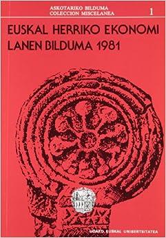 Book Euskal herriko ekonomi: Lanen bilduma, 1981/1 ZNB (Coleccion Miscelanea)