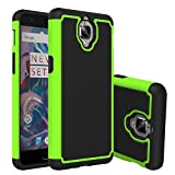 OnePlus 3 Case, Asstar Defender Protective Shock Absorbing Rugged Shell Extreme Protection / Rugged but Slim Merge Dual Layer Case Cover for OnePlus 3 (Green)