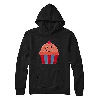 c55cb05df Teely Shop Men's Cute Smiling Cupcake Funny Cake Costume Gildan - Pullover  Hoodie/Black/