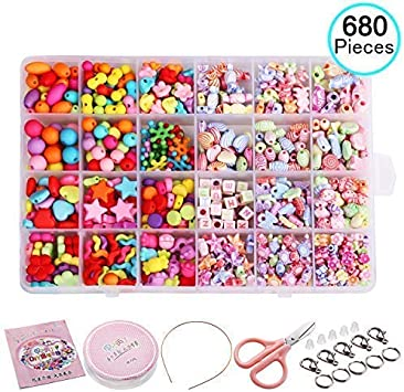 Ewparts 24 In 1 Letter Beads Set for Jewelry Making Kids Children Craft DIY Kit