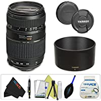 Tamron AF 70-300mm f/4.0-5.6 Di LD Macro Zoom Lens with Built In Motor for Canon Digital SLR Cameras + Pixi-Basic Accessory Bundle