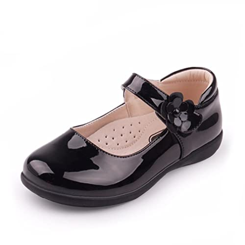 CYBLING Girls Mary Jane Princess Low Heels Strap Shoes Kids Toddler School Uniform Flat Dance Shoe