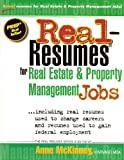 Real-Resumes for Real Estate and Property Management Jobs, Anne McKinney, 1475099886